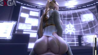 Nier: Automata Game Sex Video SFM YoRHa Commander Cowgirl Riding Anal Creampie  HD 720p