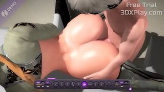 NieR Automata YoRHa Commander x 9S Hardcore Fucked Big Dick Animation 2019