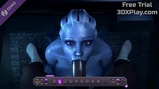 MASS EFFECT LIARA BLOWJOB SUCKED COCK ANIMATION POV